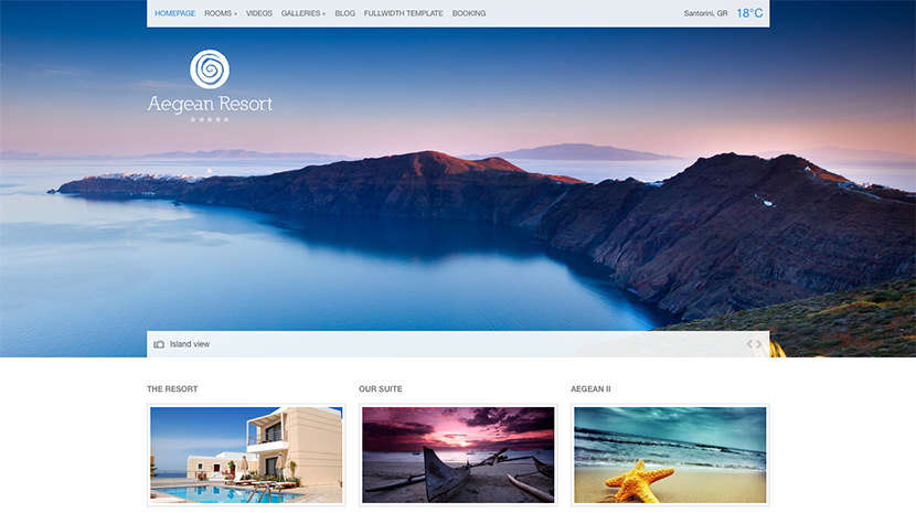Aegean Resort desktop screenshot