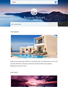 Aegean Resort large tablet screenshot