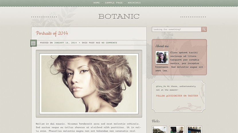 Botanic desktop screenshot