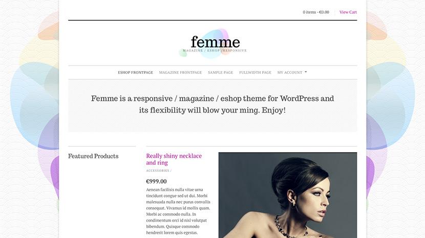 Femme desktop screenshot