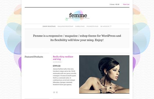 Femme laptop screenshot