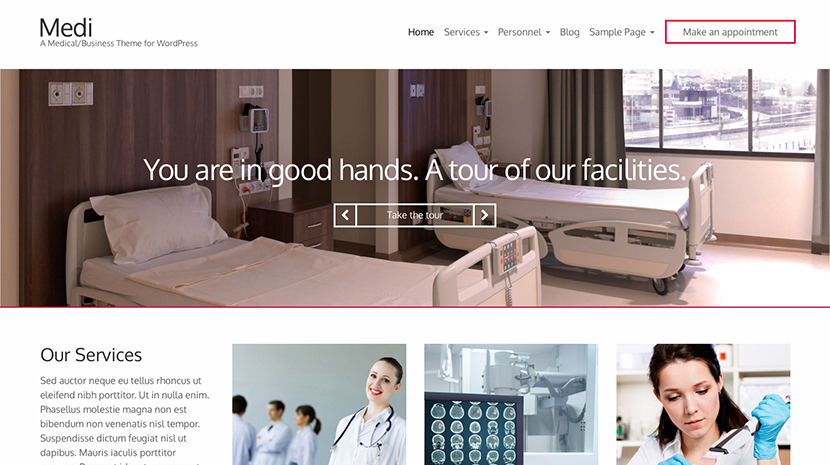 Medi desktop screenshot
