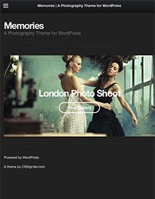 Memories large tablet screenshot