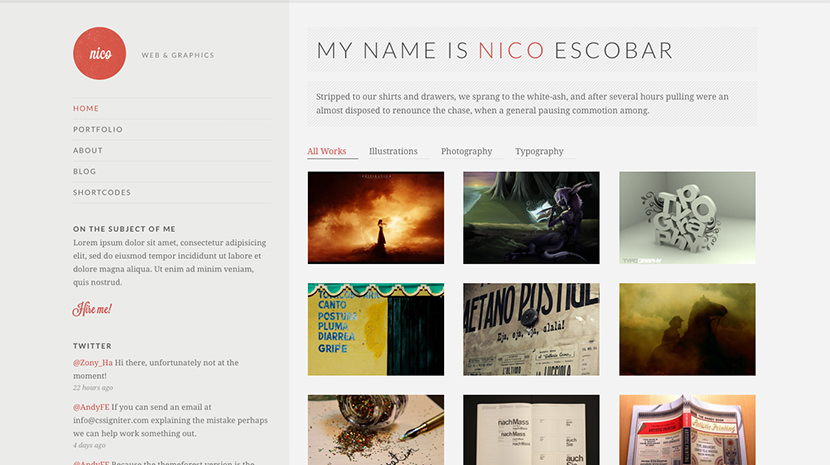 Nico desktop screenshot