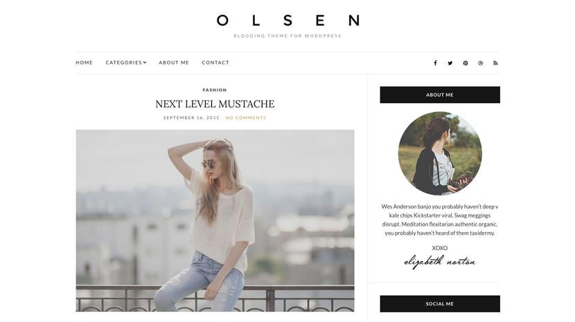 Olsen Light desktop screenshot
