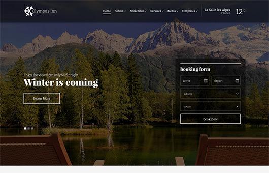 Olympus Inn laptop screenshot