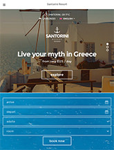 Santorini Resort small tablet screenshot