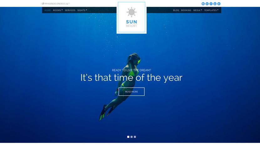 Sun Resort desktop screenshot