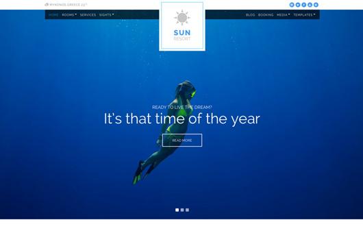 Sun Resort laptop screenshot