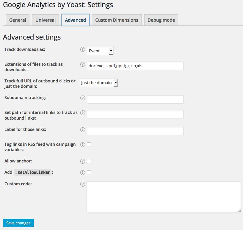 google-analytics-by-yoast-advanced-settings