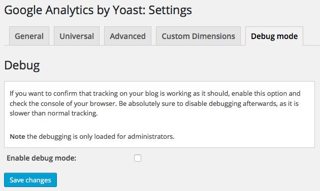 google-analytics-by-yoast-debug-mode