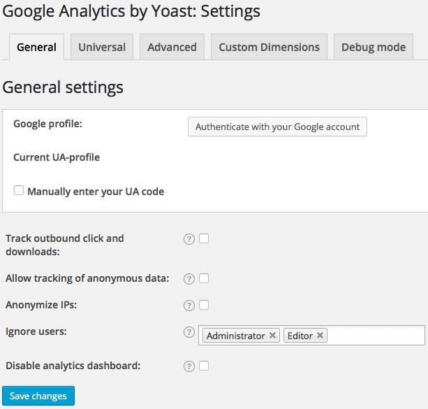 google-analytics-by-yoast-general-settings