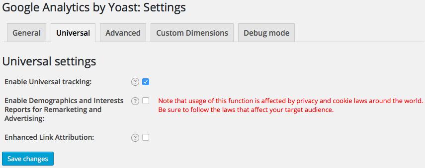 google-analytics-by-yoast-universal-settings