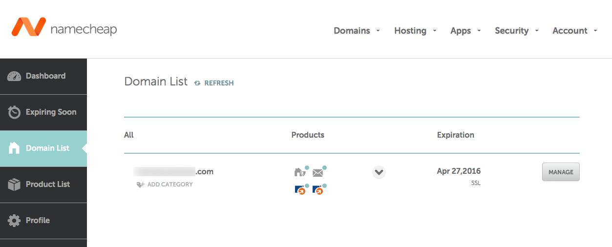 namecheap-domain-list-manage
