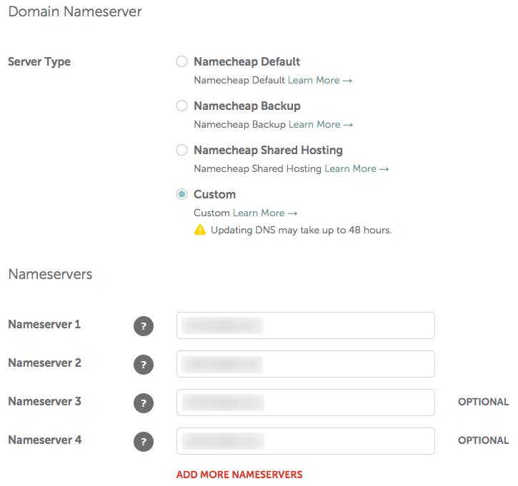 namecheap-domain-nameserver-custom-server-type