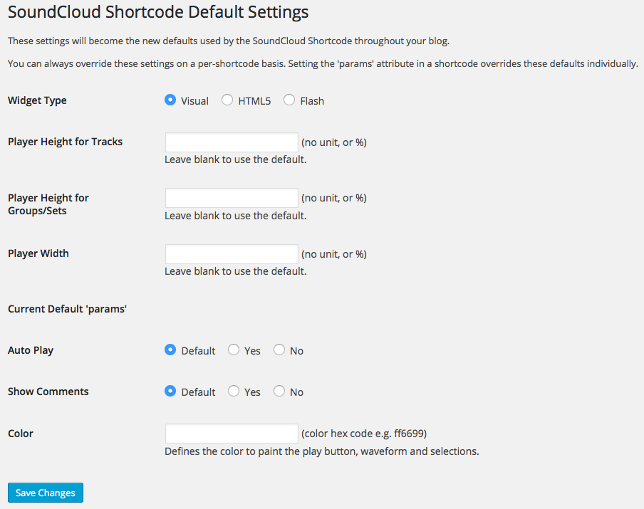 soundcloud-shortcode-default-settings