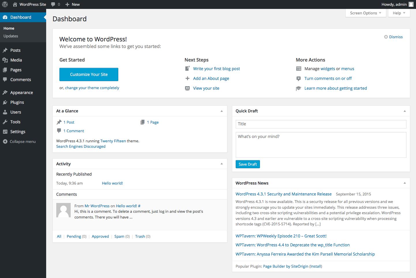 wordpress-site-dashboard