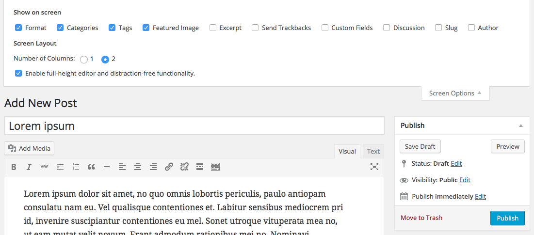 wordpress-site-post-screen-options