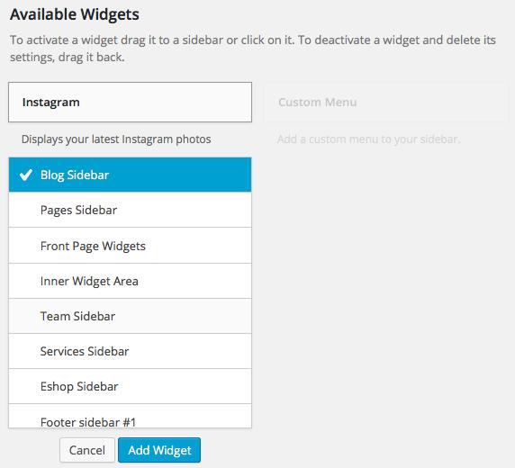 How to configure wp instagram widget magicpress wp instagram widget add ccuart Choice Image