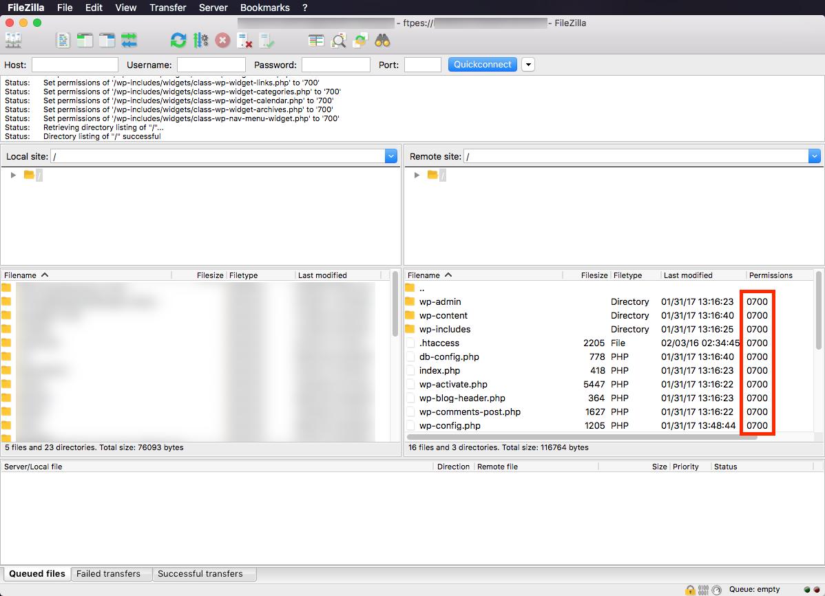 filezilla-changed-file-permissions
