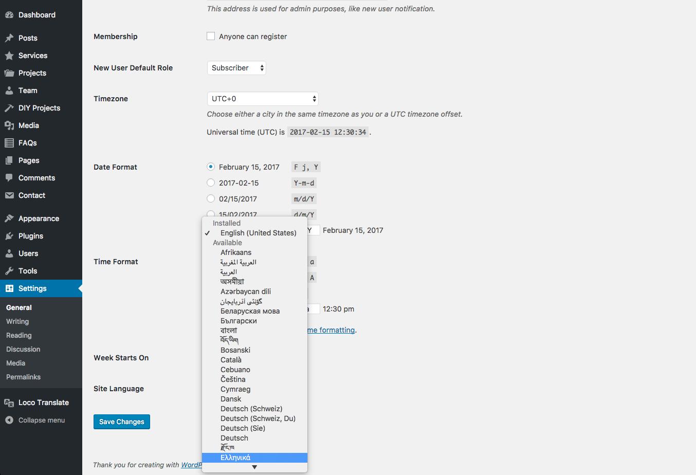 how to translate wordpress site