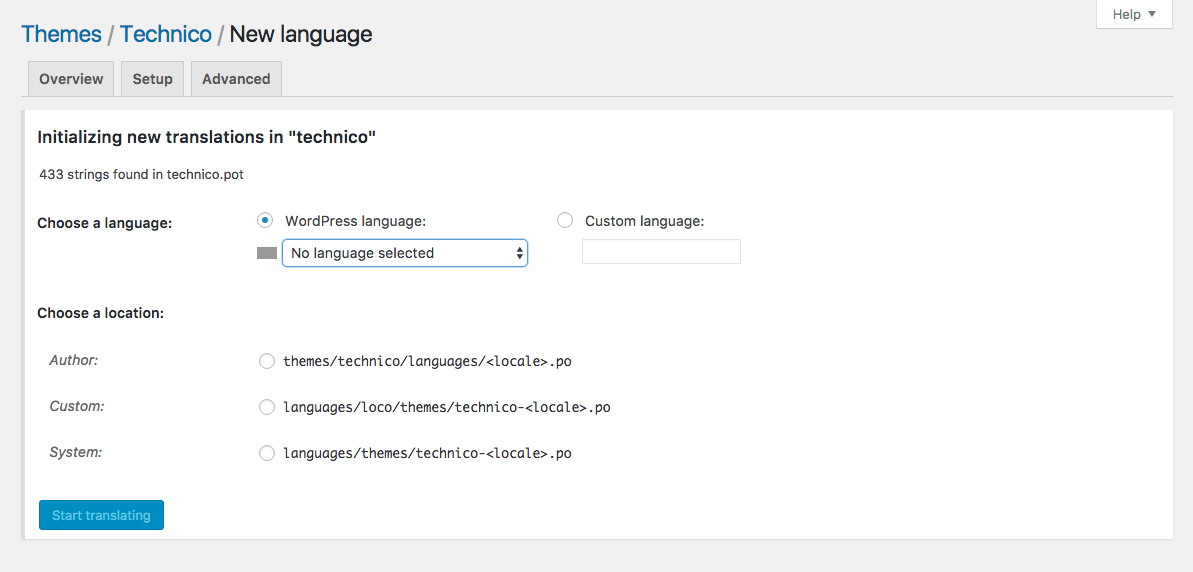 How to translate a WordPress theme directly in your browser